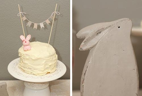 Fiesta de conejitos perfecta para un bautizo o baby shower