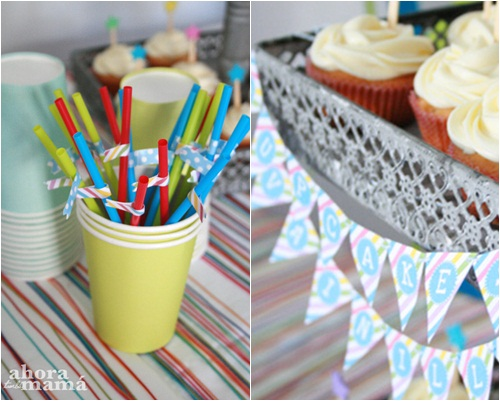 Fiesta de cumpleaños multicolor