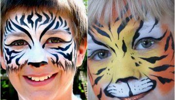 Ideas para pintar caras de fiesta