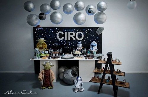 Impactante decoraci n de fiesta infantil star wars for Decoracion star wars