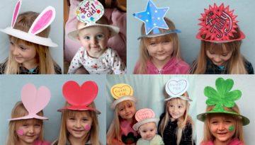 Sombreros para fiesta hechos en casa.