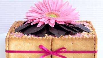 Receta tarta de galletas, nocilla y almendras