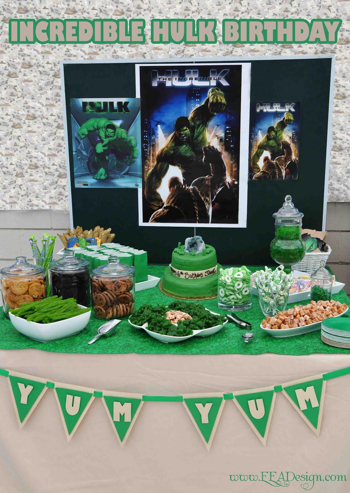 Fiesta tem tica de hulk fiestas infantiles directorio - Adornos de fiesta ...