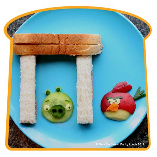 Sandwich de Angry Birds | Fiestas Infantiles, Directorio de ...