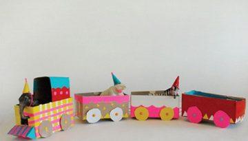 manualidades-faciles-con-ninos-tren-de-circo-vintage