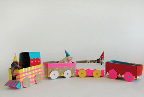 Manualidades f ciles con ni os tren de circo vintage - Manualidades de ninos faciles ...