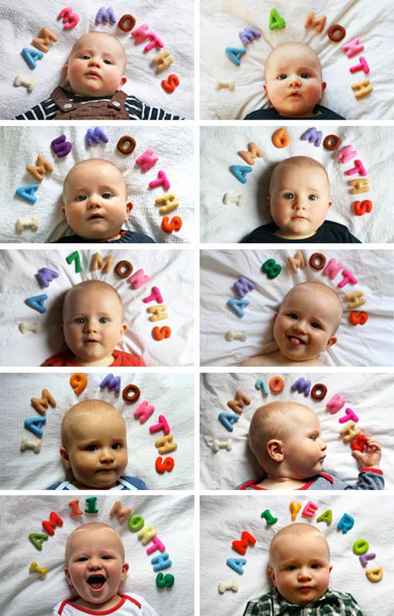 Ideas de fotos para el primer año de tu hijo.