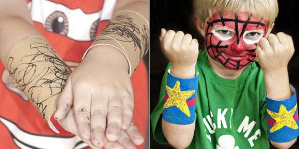 Manualidades para niños: Puños de superhéroe