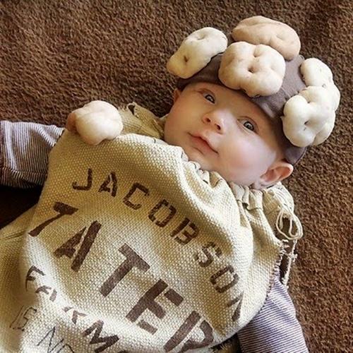 Disfraz de saco de papas.