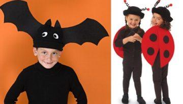 Disfraz de mariquita y de murciélago