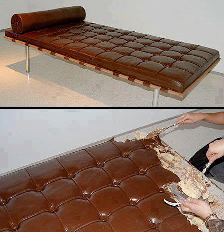 ¿Un pastel de diván o un diván de pastel?
