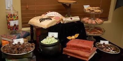 mesa del pastel fiesta tematica potter