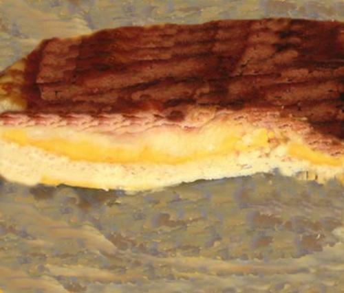 Pastel de jamón y queso caramelizado