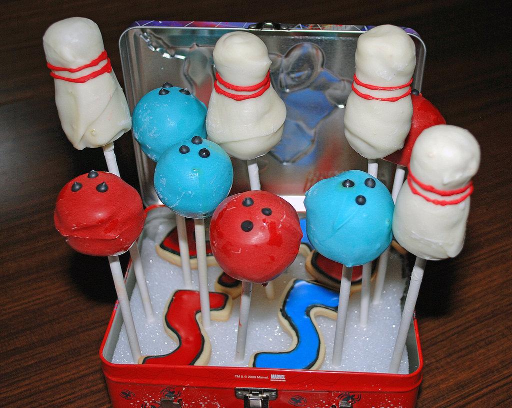 Cupcakes para fiesta de boliche.