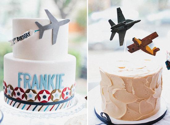Fiesta infantil retro de aviones.