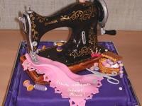 Pastel de maquina de coser
