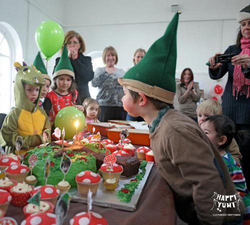 Fiesta temática del bosque con elfos
