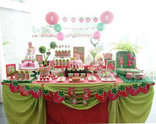 Fiesta tem tica de rosita fresita fiestas infantiles - Fiesta infantil tematica ...