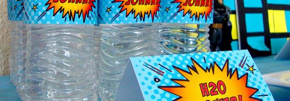 borellas de agua para fiesta de super heroes