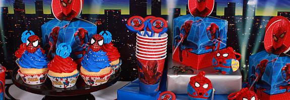 mesa de fiesta spiderman