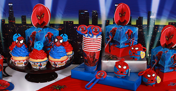 mesa de fiesta spiderman