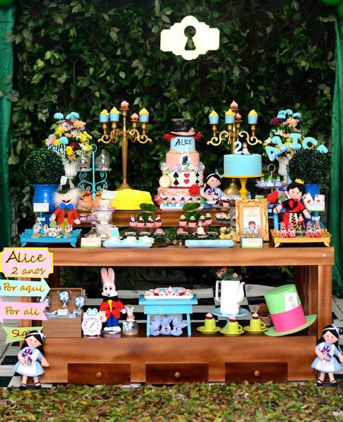 Fiesta temática de Alicia en el país de las maravillas