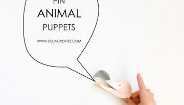 manualidades con ganchos de ropa titere de animales